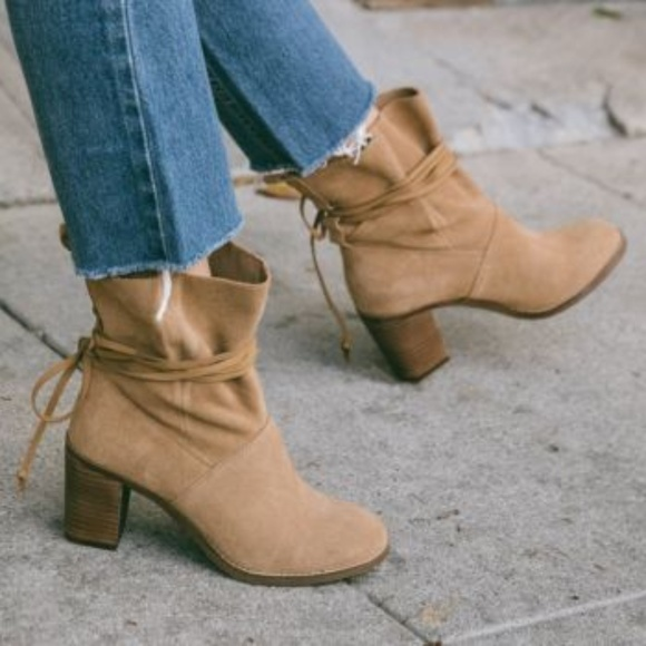 New W Box Toms Mila Ankle Boots Brown